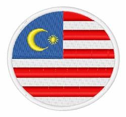 Malaysia Flag embroidery design