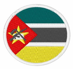 Mozambique Flag embroidery design