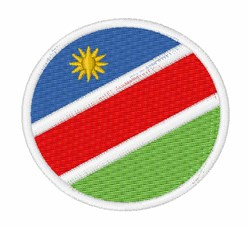 Namibia Flag embroidery design