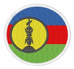 New Caledonia Flag embroidery design