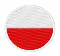 Poland Flag embroidery design