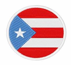 Puerto Rico Flag embroidery design