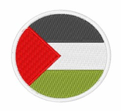 Palestinian Authority Flag embroidery design