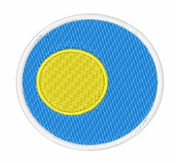 Palau Flag embroidery design