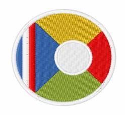 Réunion Flag embroidery design
