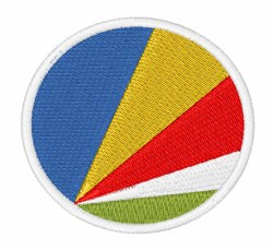 The Seychelles Flag embroidery design