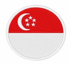 Singapore Flag embroidery design