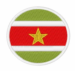 Suriname Flag embroidery design