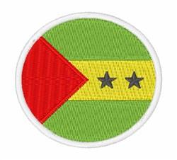 São Tomé & Príncipe Flag embroidery design