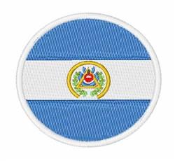 El Salvador Flag embroidery design