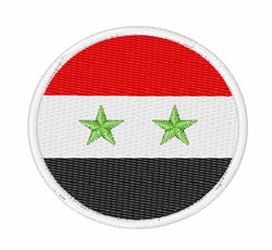 Syria Flag embroidery design