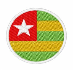 Togo Flag embroidery design