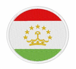 Tajikistan Flag embroidery design