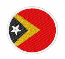 Timor-Leste Flag embroidery design