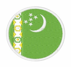 Turkmenistan Flag embroidery design