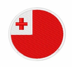 Tonga Flag embroidery design