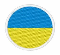 Ukraine Flag embroidery design