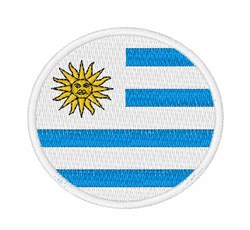 Uruguay Flag embroidery design