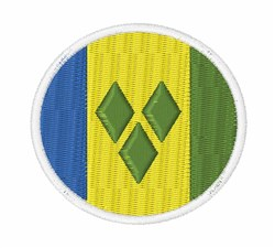 Saint Vincent And The Grenadines Flag embroidery design