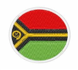 Vanuatu Flag embroidery design