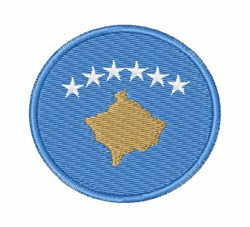Kosovo Flag embroidery design