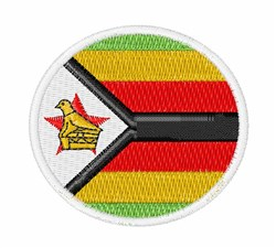 Zimbabwe Flag embroidery design