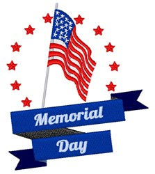 Memorial Day embroidery design