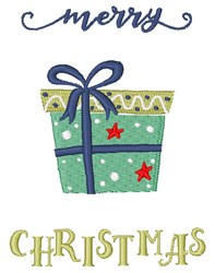 Merry Christmas Gift embroidery design
