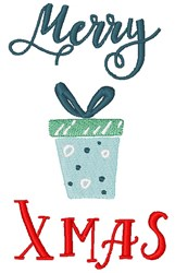 Merry Xmaas embroidery design