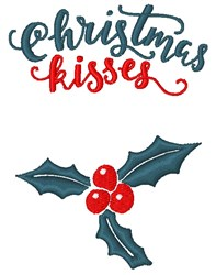 Christmas Kisses embroidery design