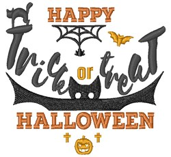 Happy Halloween embroidery design