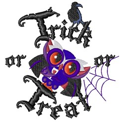 Trick Or Treat Birds embroidery design