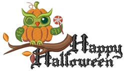 Pumpkin Owl embroidery design