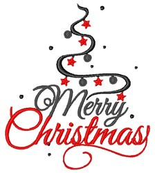 Merry Christmas Swirl embroidery design