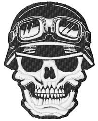 Biker Skull embroidery design