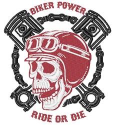 Biker Power embroidery design