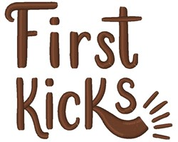 First Kicks embroidery design