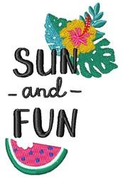 Sun And Fun embroidery design