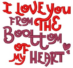 Bottom Of My Heart embroidery design