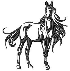 Stallion Horse embroidery design