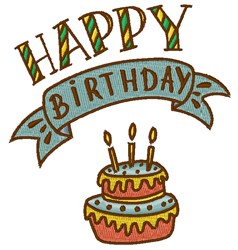 Happy Birthday embroidery design