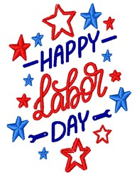 Labor Day embroidery design