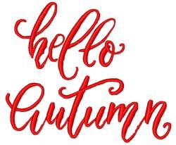 Hello Autumn embroidery design
