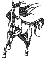 Thoroughbred Horse embroidery design