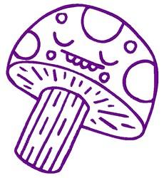 Mushroom Outline embroidery design
