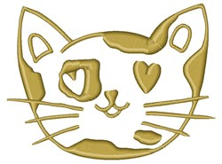 Kitty Head embroidery design