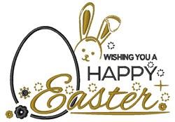 A Happy Easter embroidery design