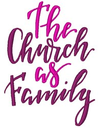 Church As Family embroidery design
