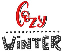 Cozy Winter embroidery design