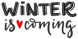 Winter Is Coming embroidery design